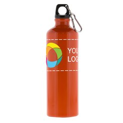 26 oz. Custom Aluminum Water Bottle with Full-Color Wraparound