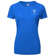 Fruit of the Loom® Lady-Fit Performance T-shirt with Single Colour Print