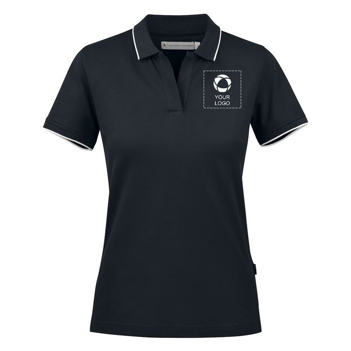 Harvest Greenville Women's Polo with Single Colour Print