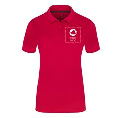 Elevate™ Calgary Women's Short Sleeve Single Colour Print Polo Shirt