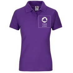 Fruit of the Loom® 65/35 Ladies Polo Single Colour Print