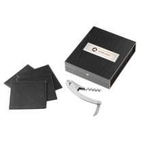 Belgio Coasters and Wine Opener Set