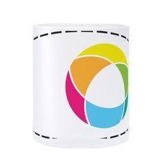 Glazen mok met full-colour drukwerk