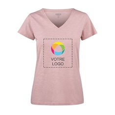 T-shirt femme à col enV en coton biologique Whailford de Harvest