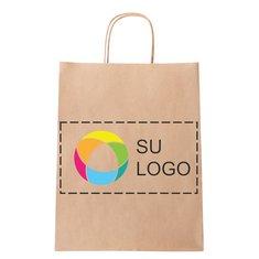 Bolsa de papel mediana con impresión a todo color