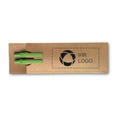 Geschenkset mit Bleistift und Kugelschreiber Greenset