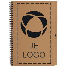 Bloquero Plus gerecycled notitieboek met pen