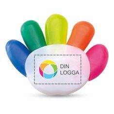 Colore överstrykningspenna med fyrfärgstryck