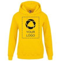 Kapuzensweatshirt Lady-Fit Classic von Fruit of the Loom® mit einfarbigem Druck