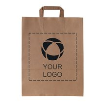 Budget Paper Bag Large with Flat Handles