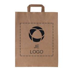 Voordelige papieren tas groot met platte hengsels