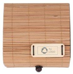 Taco de notas de bambú Cortina Block grabado con láser