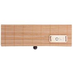 Juego de artículos de papelería de bambú Cortina grabado con láser