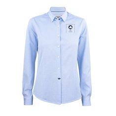 J.Harvest & Frost Indigo Bow 34 skjorte til damer enkeltfarvetryk