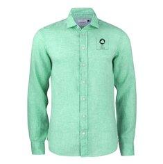 J.Harvest & Frost Indigo Bow 33 herreskjorte med almindelig pasform enkeltfarvetryk