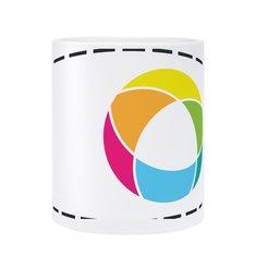 Taza de vidrio con impresión a todo color