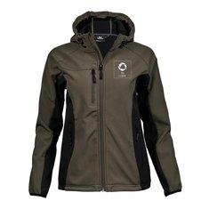 Chaqueta softshell resistente y ligera de capucha de Tee Jays® con estampado monocolor