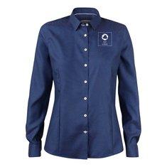 J.Harvest & Frost Purple Bow 49 skjorte til damer med enkeltfarvetryk
