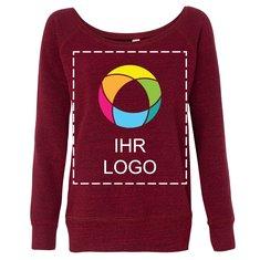 Sweatshirt mit weitem Halsausschnitt und angerauter Innenseite von Bella + Canvas®