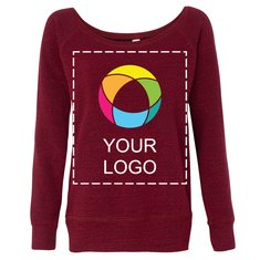 Bella + Canvas® Ink Printed Sponge Fleece Wideneck Sweatshirt