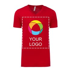 Kurzärmeliges Unisex-Jersey-T-Shirt mit V-Ausschnitt von Bella + Canvas®