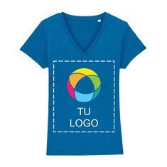 Camiseta de cuello de pico con estampado de tinta Stella Evoker para mujer