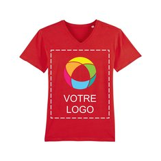 T-shirt à col en V homme StanleyPresenter imprimé à l'encre
