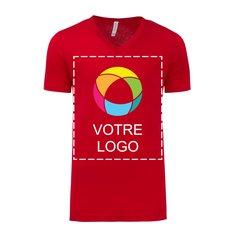 T-shirt unisexe en jersey à manches courtes et à col en V Bella + Canvas®
