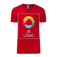 Bella + Canvas® uniseks tricot T-shirt met V-hals en korte mouwen