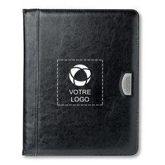 Porte-documents en polyuréthane avec bloc-notes de 20 pages