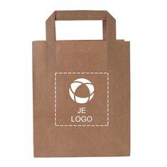 Voordelige papieren tas klein met platte hengsels