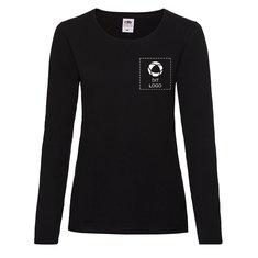 Fruit of the Loom® Lady-fit valueweight T-shirt med lange ærmer