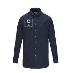 J. Harvest & Frost Indigo Bow 31 herreskjorte i almindelig pasform enkeltfarvetryk