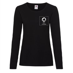 Fruit of the Loom® Valueweight långärmad T-shirt i dammodell