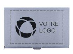 Porte-cartes de visite en aluminium Epsom