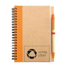 Bloc-notes de papier recyclé avec stylo Sonora Plus