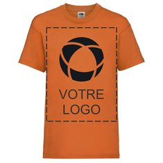 T-shirt enfant Valueweight de FruitoftheLoom®, impression monochrome sur le devant et au dos