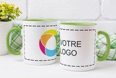 Tasse à imprimé couleur Colored