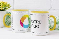 Tasse Colored imprimée en couleur sur tout le tour
