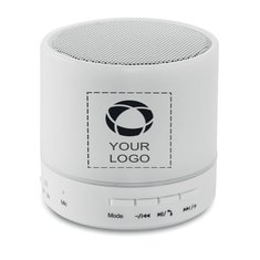 Round White Bluetooth LED Speaker