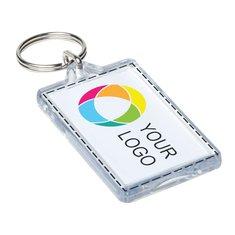 Porte-clés avec image à insérer interchangeable
