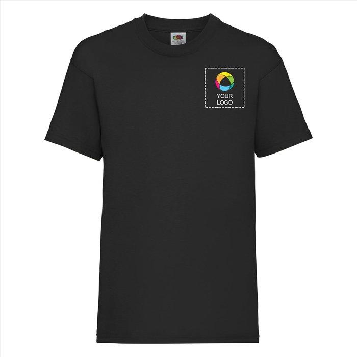 Camiseta Valueweight para niño de Fruit of the Loom® con estampado a tinta a la izquierda del pecho