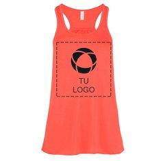 Camiseta vaporosa de tirantes y espalda cruzada de Bella + Canvas® para mujer