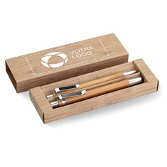 Coffret cadeau avec stylo en bambou