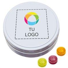 Lata XL de bolsillo de caramelos de frutas variadas Pulmoll, paquete de 40 unidades