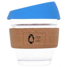 8 OZ Reusable Glass Coffee Cup with Cork Band