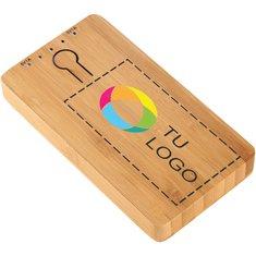 Batería externa de bambú con estampado a todo color PB-5000 de Avenue™