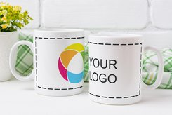 White Mug Full Color Wrap Print