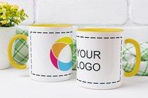 Taza de colores con impresión envolvente a todo color