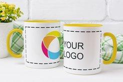 Tazza colorata tinta unita con stampa